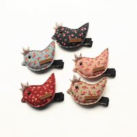 Wholesale red bird cartoon - 20pcs lot New Baby Hairpins Mini Size Cartoon Birds Cute Kids Mini Crown Birds Baby Hair Barrettes Accessories