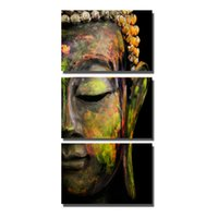 Wholesale art buddha paintings for sale - Group buy Framed Abstract Buddha Modern home decor Canvas Print Painting Wall Art Picture For Living Room Modular picture PT0032