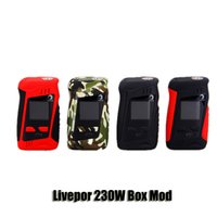 Wholesale Ips Screens - 100% Original Yosta Livepor 230W Box Mod VW TC 0.01s Fast Firing Speed Mods With 1.33 Inch Color IPS Screen Authentic