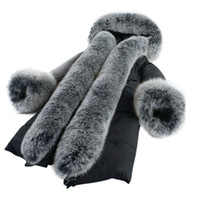 Wholesale Waist Belt Down Jacket Women - Real Fox Fur Collar Winter Coat Women European Style Winter Jacket Women Very Warm Down Jacket Parka Female Outerwear