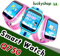 Wholesale android wifi touch watch phone for sale – best Q750 Kids Smart Watch GPS Wifi LBS Monitor Locator Watch Phone Inch Touch Screen SOS Safe Anti Lost Location Device Tracker