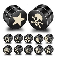 Wholesale cc studs - 20 Styles Titanium Magnetic Mens Earrings Studs Fashion Earring Luxury Designer Earring Designer Jewelry CC Earrings Aretes Ear Rings