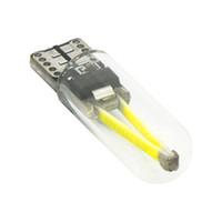 filiz filamanı toptan satış-2 adet 6000 K T10 w5w 194 araba led işık Filament COB Cam İç Kuyruk Arka sis Ampul Okuma Sinyal Lambası Saf Beyaz 12 V için hond