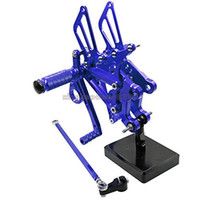 Wholesale motorcycle rear footrest for sale - Group buy Motorcycle Rearset Foot Pegs Rear Set Footrests Fully Adjustable Foot Boards Fit For Yamaha YZF R125