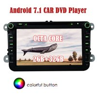 Wholesale tv tuner for android phone resale online - Android GPS Radio for VW Volkswagen Double Din car DVD PLAYER Navigation HeadUnit Car Audio Stereo GB GB G WIFI