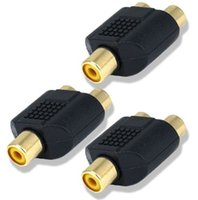 y adapter rca großhandel-RCA Y-Splitter (1 Buchse auf 2 Buchsen) Anschluss AV Audio / Video Adapter