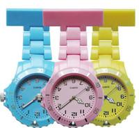 Wholesale plastic hang tags wholesale - Fashion unisex women ladies plastic design women nurse FOB pocket watches wholesale doctor medical hospital quartz hang watches