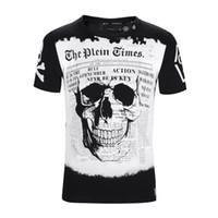 Wholesale Anti Music - 2018 Summer fashion short music DJ Skull printed Funny t-shirt men tops 1810
