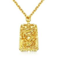 pingente de colar para meninos venda por atacado-Colar de Pingente de Corrente de Aço Inoxidável dos homens da Moda da cor do Ouro Dargon Colar de Jóias para Homens Meninos 688