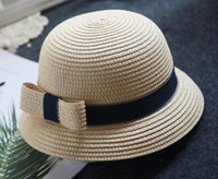 Wholesale children stingy brim hats - New coming summer kid hats for girls and boys Grass Braid discounts price