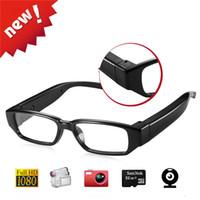 Wholesale eyewear mini camera for sale - Best Quality Full HD No Hole Mini Camera Glasses DVR Eyewear Security Camcorders Audio Video Recorder Sunglasses DV