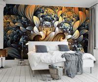 design house flowers 2018 - Custom Photo Wall Paper 3D Room Decor Mural Wallpaper Modern European Style Abstract Flower Pattern Art Design Wall Painting