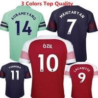 blue football socks Canada - ArsENal Soccer Jerseys Ozil Football Shirts 18 19 Lacazette Home Red camisas Ramsey Mkhitaryan Aubameyang Maillot de Kids kit with socks
