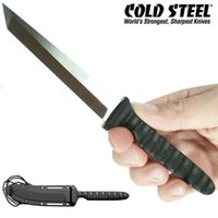 Wholesale daggers knifes - Cold Steel Tanto Samurai Sword Fixed Blade Knives 7cr14mov 57HRC Straight Knife Outdoor Camping Hiking Survival EDC Knife Dagger