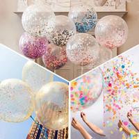 ingrosso decorazione in lattice-5PCS / Set Party Colorful Confetti Latex Sequin Balloon Compleanno di compleanno Balloon Decor Big Balloon