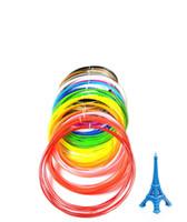 ingrosso spazzola metro-Penna di stampa 3D materiali di consumo ad alta temperatura PLA1,75 10 metri di vuoto linea di stampa pennello stereo 3D set 36 colori