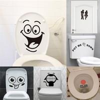ingrosso grandi bagni-grande bocca adesivi toilette decorazioni murali fai da te in vinile adesivos de paredes casa decalcomania murale arte poster impermeabili di carta