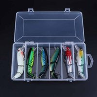 Wholesale floating big lure resale online - 6pcs g Segments Sections Floating Hard Lure Plastic Artificial Fishing lures Crankbait Hard Bait Tight Wobble Fishing Baits
