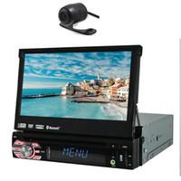 telemóvel tv auto venda por atacado-Um Din Painel Destacável Auto car DVD Player GPS de Navegação Rádio Ipod Bluetooth 7 '' Único Din Carro Estéreo HD Touchscreen USB SD IPOD
