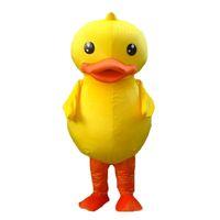 trajes de mascote de pato amarelo venda por atacado-Alta qualidade do pato amarelo mascote traje adulto pato mascote frete grátis
