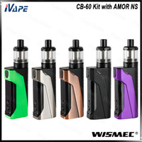 Wholesale n screen online - WISMEC CB Kit W with AMOR NS Tank ml WS03 MTL CB MOD Inbuilt mAh with inch Rotated Screen Display Original