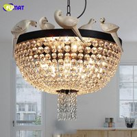 Wholesale chain counter resale online - American style bar counter entranceway crystal riches and riches glittering and translucent enchanting magic pendant light