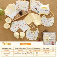 newborn baby girl gift sets NZ - 18pcs  Set Newborn Girl Clothes 0 -3 Months Long Sleeve Cotton New Born Baby Boy Clothing Gift Sets Suit Summer Infant Clothing