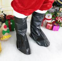 traje de los hombres de santa claus al por mayor-Cubierta de la bota de santa claus hombres mujeres navidad disfraces disfraces cospaly cubierta de zapatos de santa claus decoración de navidad ljjk1069