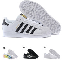 Discount running shoes Adidas Superstar smith Mens NUOVO DESIGN Uomo Donna  Superstar Scarpe Sneakers Casual Walking Shoes Donna Flats 15 Colori Taglia  36-44 ... 0ef55a563f7