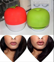 Wholesale lip plumping enhancer - Apple Lip Plumper Lobed Full Lip Plump Enhancer Suction Red Beauty Lip