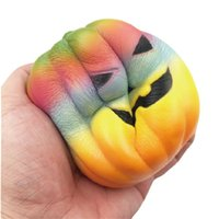 Wholesale photos animal for sale - Colourful Halloween Pumpkin Squishy Decompression Toys Jumbo Cute Bread Squishies Squeeze Toy Photographing Take Photo Props df CR