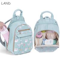 Wholesale mini diapers resale online - Baby Bags Waterproof Diaper Bag Small Size Cartooin Baby Backpack borsa passeggino Mini Bag