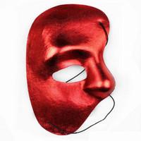 ingrosso maschere di partito chiaro-Phantom of the Opera Maschere Maschera per ballo in maschera d'argento Maschere per il martedì grasso Maschere per facciate