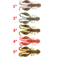Wholesale silicone lure for saltwater for sale - Group buy 5 Colors mm g High Quality Fake Baits Soft Silicone Artificial Lobster Crawfish Shrimp Fishing Lure For Bass
