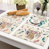 Wholesale table placemat for wedding resale online - Dreamcatcher Paern Table Mat Kitchen Decoration Placemat Table Napkin For Wedding Dining Accessories Table Mat Hot Sale