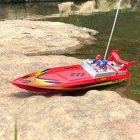 ingrosso telecomando barca ad alta velocità-Giocattoli elettrici ad alta velocità della barca della barca di RC della barca telecomandata infrarossa del motoscafo di 15km / h