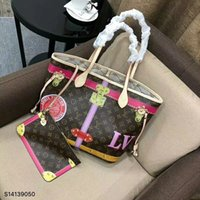 Wholesale Small Pvc Shopping Bags - Hot Sell Women Real Leather Printed Handbags Wallet Shopping Handbags Shoulder Hobo Bag Ladies Messenger Bag Cosmetic Bags