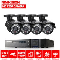Wholesale dvr hdmi output - HD 2000TVL 8CH CCTV system 3G WIFI 4 channel Full 1080P HDMI AHD DVR kit 1080p output 4pcs security camera system with 1TB HDD