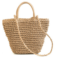 дизайнер соломенной сумочки оптовых-Famous  Ladies Rattan Beach Bag Wicker Straw Bag Summer Crossbody Bags For Women 2018  Handbags Women Bags Designer