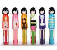 Wholesale umbrella dolls - Novelty Kokeshi Doll Folding Umbrella Japanese Dolls Cute Bottle Folding Kimono Girl Traditional Umbrella randomly sending