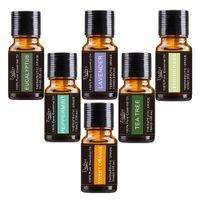 Wholesale massages oil - 100% Therapeutic Grade Pure Essential Oil Top 6 10ML Massage Essential Oil Set