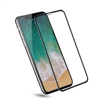 Wholesale iphone colorful tempered glasses online – For iphone PLUS X XS XR XS MAX H Full Cover Colorful Tempered Glass Screen Protector Glue Silk Printed Glue p