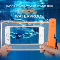 unterwassertasche großhandel-Luminous wasserdichte Beutel-trockene Beutel mit für Iphone 11 Pro MAX X XS 8 7 Samsung S10 Plus-note10 Unterwasserwasserdicht Fall