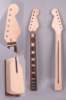 Wholesale guitar neck for fender - unfinished electric guitar neck 22 fret 25.5 inch Maple wood ST Strat electric guitar replacement truss rod #3