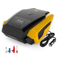 Wholesale 12v portable car tire pump online - New Portable Car LED Digital Tire Inflator V PSI Tyre Gauge Air Compressor Pump