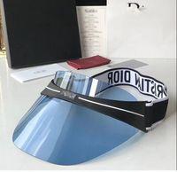 rotes lederband großhandel-Sun Visor Sunvisor Party Hut klar Kunststoff Kappe transparent PVC Sonnenhüte Sonnenschutz Hut Tennis Strand elastische Hüte versandkostenfrei