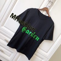 Wholesale owl t - 18ss Europe Italy Luxury Sequins Spring Museum Series Garden Tee Cotton T shirt Owls Embroidery tshirt