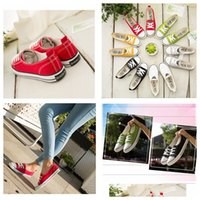 Wholesale girl casual lace shoes for sale - Group buy 1Pair Summer Low top Girls Boy Women Sneakers Canvas Shoes Fashion Casual Lace up Low cut Sports Shoes DDA571