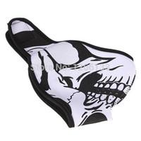 neoprene meia face máscara de esqui venda por atacado-Crânio Preto Neoprene Reversível Metade Máscara Facial Ski Neve Motociclista Esporte Motociclista 9IZp