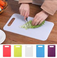 Wholesale fruit chopping board - 29*19cm Non Slip Plastic Chopping Mat Vegetable Fruit food Chopping Block Board Kitchen Gadgets Tool EEA358 120PCS